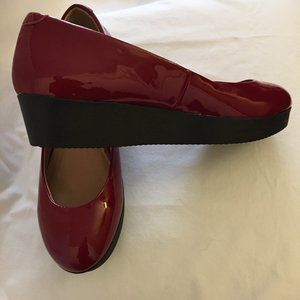 Nine West Holly  Berry Patent Platform Shoes